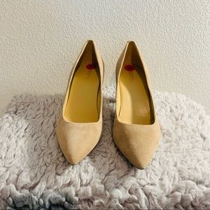 NEW! MK suede leather mid pump size 10m